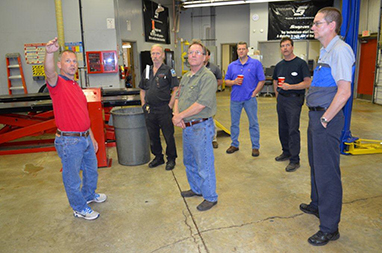 Automotive service pros share expertise with college program graphic